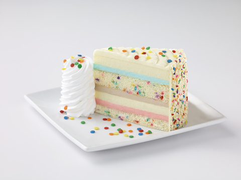 Guests can enjoy the debut of The Cheesecake Factory's highly anticipated newest flavor – Celebration Cheesecake – beginning Sunday, July 30. (Photo: Business Wire)