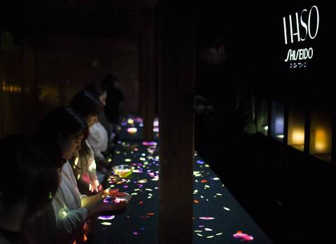 """Shiseido apoia """"teamLab: A Forest Where Gods Live Art Exhibition presented by Shideido"""""""
