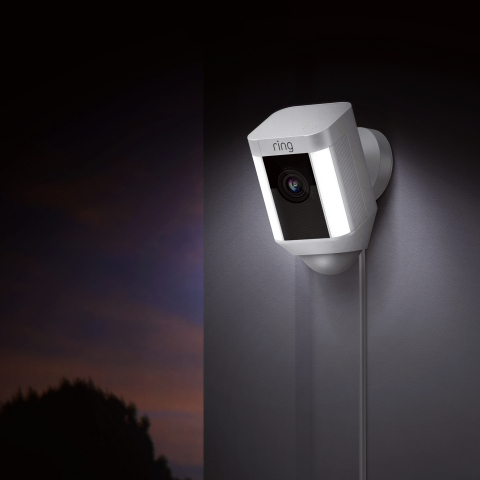 The Ring Spotlight Cam line includes battery powered, wired, and solar powered options, all of which feature LED light panels that turn on when motion is detected, as well as a 1080p HD camera with two-way audio. (Photo: Business Wire)