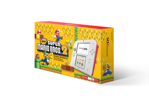 On Aug. 25, a sleek white-and-red Nintendo 2DS system with the New Super Mario Bros. 2 game pre-installed is hitting store shelves at a suggested retail price of only $79.99. (Photo: Business Wire)