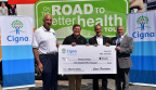 The Cigna Foundation gave a $150,000 grant to help Appalachian Miles for Smiles provide free mobile dental care. Pictured left to right: Bruce Sites, executive director of Friends in Need and project manager for Appalachian Miles for Smiles; Greg Allen, president of MidSouth markets, Cigna; Steve Kilgore, president, Friends in Need; Tenn. Rep. John Crawford, District 1. (Photo: Business Wire)