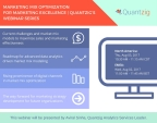 Quantzig will host a webinar on using marketing mix optimization models for achieving marketing excellence on August 2nd and 3rd. (Graphic: Business Wire)