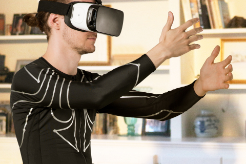 e-skin provides a new solution for gaming and data analysis (Photo: Business Wire)