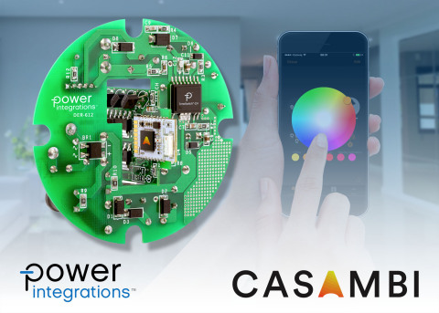 Power Integrations and Casambi Technologies showcase color-adjustable smart lighting reference design (Graphic: Business Wire)