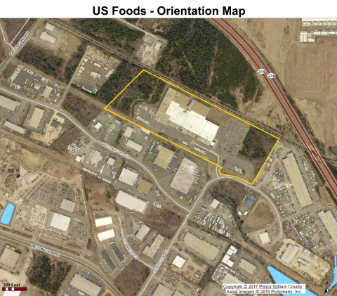 US Foods plans to nearly double footprint in Prince William County by 2018 and create approximately 100 new jobs at its Food Distribution Center located at 11994 Livingston Road, Manassas, VA. (Photo: Business Wire)