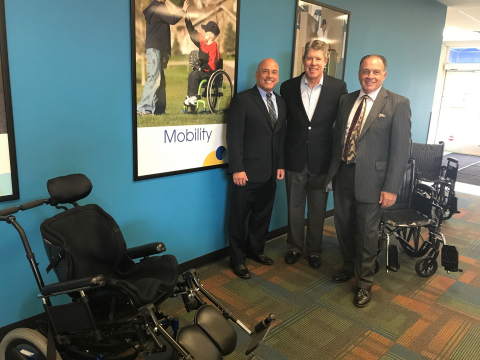 NSM Acquires Wright & Filippis Mobility Division. Pictured (left to right): Steve Filippis, Wright & Filippis EVP, Bill Mixon, NSM CEO, AJ Filippis, Wright & Filippis CEO (Photo: Business Wire)
