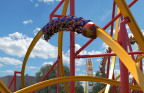 Wonder Woman™ Golden Lasso Coaster features three uniquely designed single passenger coaster trains to create the sensation of riding on air. This is also a first in the history of Six Flags Fiesta Texas. (Photo: Business Wire)