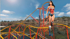 Six Flags Fiesta Texas is proud to introduce the World's First Single-Rail and Wonder Woman themed Roller Coaster. Wonder Woman™ Golden Lasso Coaster! This amazing new ride will feature a single rail coaster track only 15 ½ inches wide, a first ever at Fiesta Texas; 90-degree drop; three exhilarating inversions; and three uniquely designed single passenger coaster trains. Set to open early 2018, this innovative new ride will add to an already very exciting line-up of rides and attractions at Fiesta Texas – The Thrill Capital of South Texas!