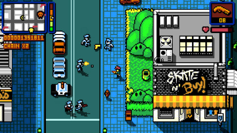 The Retro City Rampage game reimagines the open-world crime genre of the '80s. (Photo: Business Wire)