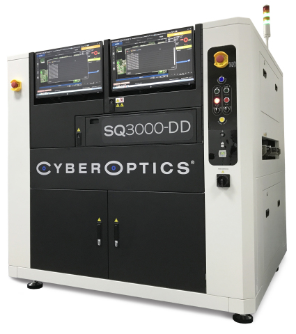 CyberOptics Corporation will unveil the new SQ3000-DD 3D Automated Optical Inspection (AOI) system with two Multi-Reflection Suppression (MRS) Sensors in Booth 1J45 at NEPCON South China. (Photo: CyberOptics Corporation)