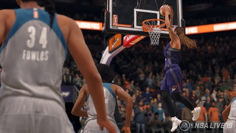 WNBA Teams to Make Official Video Game Debut in NBA LIVE 18 (Graphic: Business Wire)