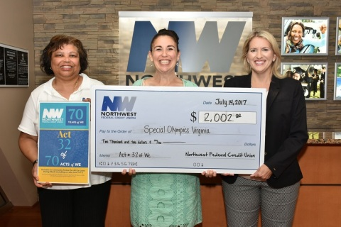 Deborah Smith, AVP Consumer Lending for Northwest Federal; Ellen Head, Director of Development for Special Olympics Virginia; and Michelle Sandy, Mortgage Business Development Specialist for Northwest Federal (Photo: Business Wire)