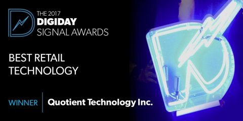 Quotient Wins Digiday Signal Award for Best Retail Technology (Graphic: Business Wire)