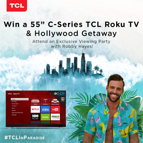 TCL—America's fastest growing TV brand the last three years—announces a national sweepstakes to celebrate the return of America's Favorite Reality Dating Show. (Graphic: Business Wire)