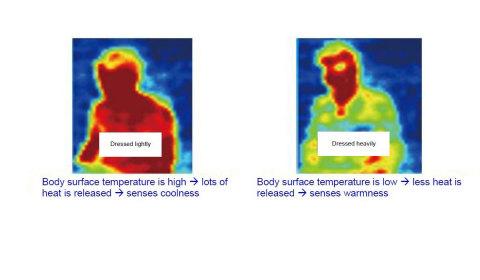 照片3:使用红外阵列传感器在相同的环境下感测人的热反应水平 (图示:美国商业资讯)