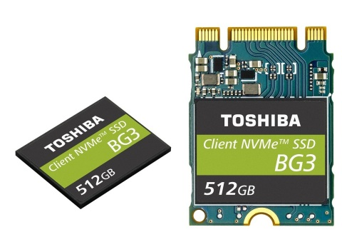 Toshiba Memory Corporation: Single Package NVMe(TM) Client SSDs Utilizing 64-Layer, 3D Flash Memory (Photo: Business Wire)