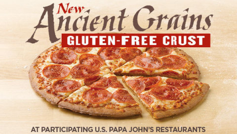 Papa John's Gluten-Free Crust Made from Ancient Grains Rolls Out Across the Country After Successful ...