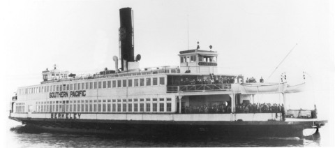 The Berkeley in her heyday in the early 1940s ferrying passengers between Oakland and San Francisco. (Photo: Maritime Museum of San Diego)