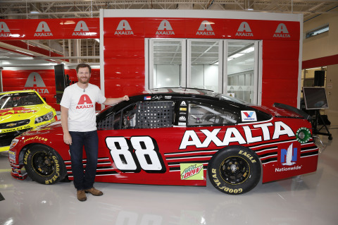 Earnhardt Jr. revealed the paint scheme during a live broadcast at Axalta's Customer Experience Center. (Photo: Axalta)
