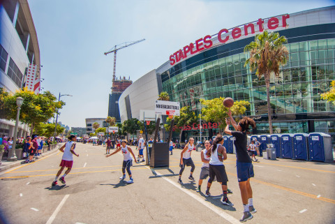 The Ninth Annual Nike Basketball 3ON3 Tournament presented by 24 Hour Fitness brings more than 1,500 teams to L.A. LIVE for California's largest 3-on-3 street basketball tournament on August 4-6, 2017. (Photo: Business Wire)