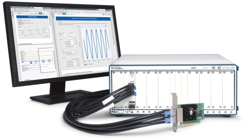 NI's new family of high-performance PXI remote control and bus extension modules with PCI Express Gen 3 connectivity delivers increased bandwidth that is critical for data intensive applications like 5G cellular research, RF record and playback, and high-channel-count data acquisition. (Photo: Business Wire)