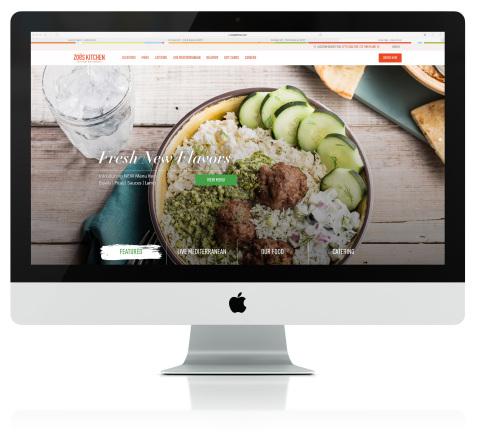 Zoës Kitchen New Website Homepage