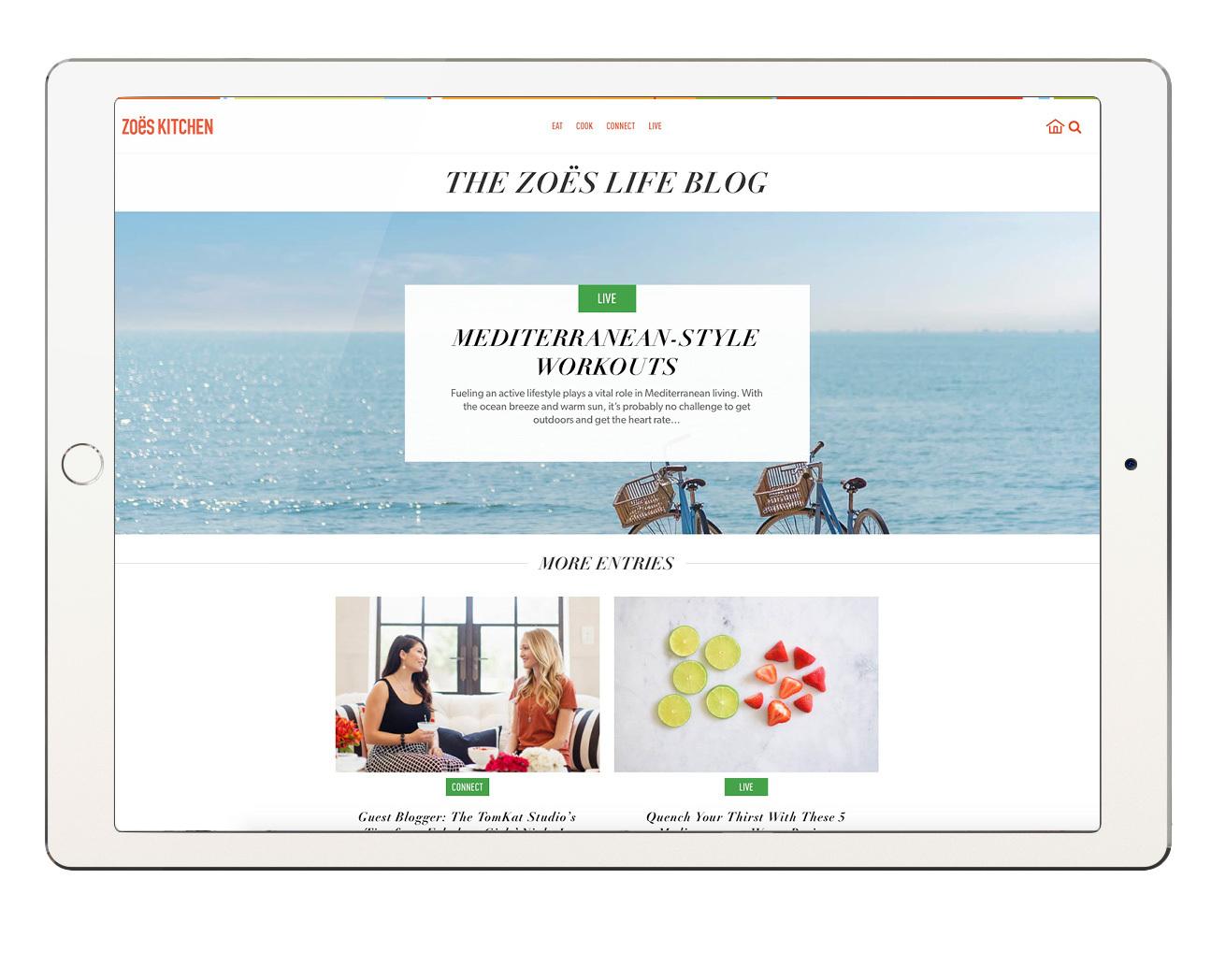 Zoës Kitchen Unveils New Enhanced Website   Business Wire