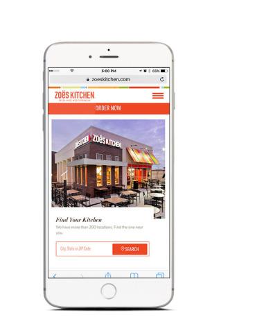 Zoës Kitchen New Website Location Finder