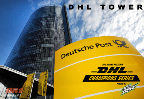 The new DHL Champion Series, Fueled by Mountain Dew, brings together pilots and racing teams to compete at exhilarating locations around the world, including the Post Tower in Bonn, Germany, the headquarters of Deutsche Post DHL Group. (Photo: Business Wire)