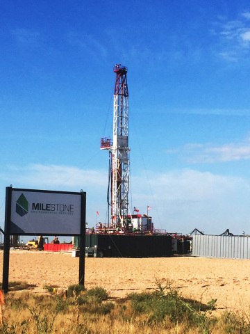 Milestone's new oilfield waste disposal facility is located on Highway 349 south of Midland and will ...