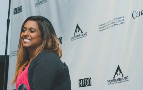 Nisha Sarveswaran, CEO of Ambience Data - winner of N100 2017 (Photo: Business Wire)
