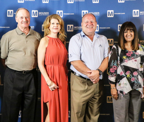 Mouser Electronics honors outstanding individuals with the President's Award for winning the Best-in-Class Award five or more times. President's Award recipients are (left to right) Doug Lippincott, Cheryl Swaim, Steve Nye, and Dee Fuller. (Photo: Business Wire)