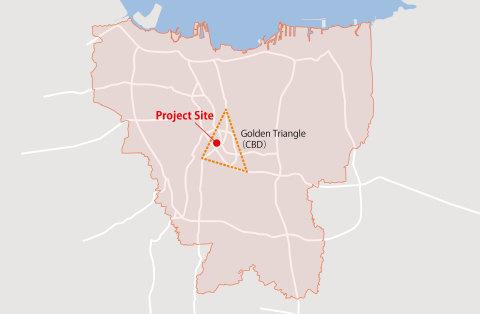 ジャカルタ市広域図 (画像:ビジネスワイヤ)