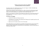 KKR Real Estate Finance Trust Inc. Second Quarter 2017 Results