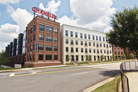 Iconic Chamblee Signage is lit and visible from north Brookhaven (Photo: Business Wire)