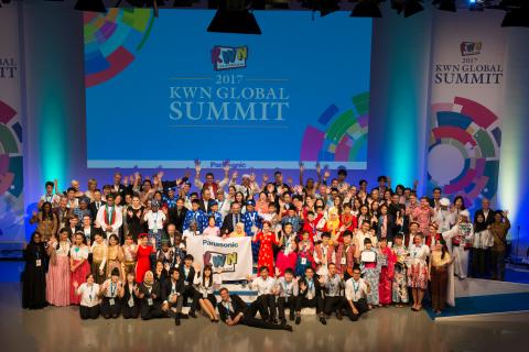 「KWNグローバルコンテスト2017」は世界18の国と地域の子どもたちと「KWNグローバルサミット2017」ウィーク中に開催(写真:ビジネスワイヤ)