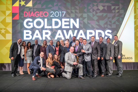 Coastal Wine & Spirits of Florida, a division of Southern Glazer's, wins Diageo's National Distributor of the Year Golden Bar Award (Photo: Business Wire)