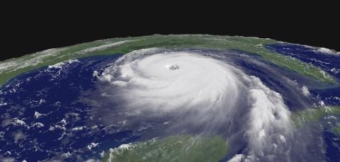 Hurricane Katrina on 28 September 2005 (NASA).