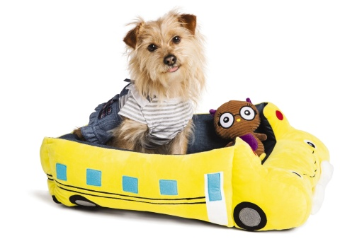 Firm believers in celebrating all life's moments with pets, PetSmart, the leading pet specialty retailer in North America, aims to ensure pets enjoy the excitement of the back-to-school season with its first-ever Back-to-School Collection. Pups will now be classroom-ready with items like the School Bus Cuddler Bed, Smart Owl Corduroy Toy and stylish Ruffle Denim Dog Dress pictured here. This collection is now available in all 1,500-plus PetSmart stores across the U.S. and Canada and online at petsmart.com and petsmart.ca. (Photo: Business Wire)