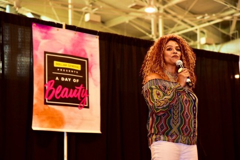 Author and actress Kim Fields joins thousands at Dollar General's third annual A Day of Beauty at Mu ...