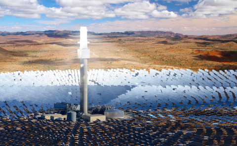 The first of its kind in Australia, the Aurora Solar Energy Project will utilise SolarReserve's leading solar thermal technology with integrated molten salt energy storage (Photo: Business Wire)