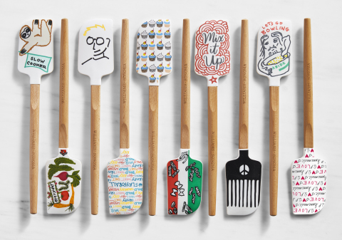 "This year's Williams Sonoma ""Tools for Change"" spatulas benefiting No Kid Hungry were designed by (l ..."
