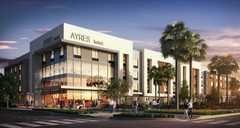 Ayres Hotels broke ground today on a 135-room Ayres Hotel at the Millenia master-planned community i ...
