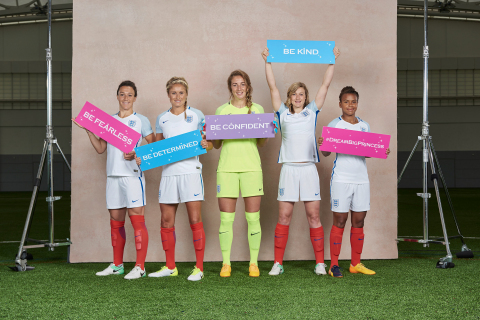 Growing up at a time when the dream of being a female football player was not as accessible asit is now, the women on the England Lionesses, England's national women's football team, serve as inspiration for young girls to dream big. The image is part of #DreamBigPrincess, a global photography campaign celebrating inspiring stories from around the world to encourage kids to dream big. Social support for the campaign will drive donations to the United Nations Foundation's Girl Up program. (Photo: Scarlet Page)