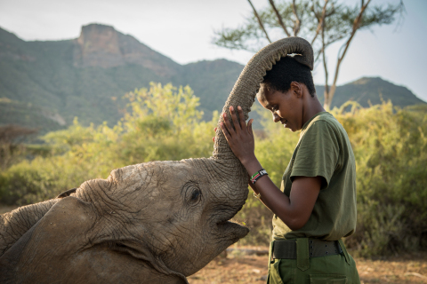 Mary Lengees (pictured here) is one of the first indigenous Samburu women elephant keepers in all of Africa, and works at Reteti Elephant Sanctuary to help elephant orphans return to their natural habitat. The image is part of #DreamBigPrincess, a global photography campaign celebrating inspiring stories from around the world to encourage kids to dream big. Social support for the campaign will drive donations to the United Nations Foundation's Girl Up program. (Photo: Ami Vitale)