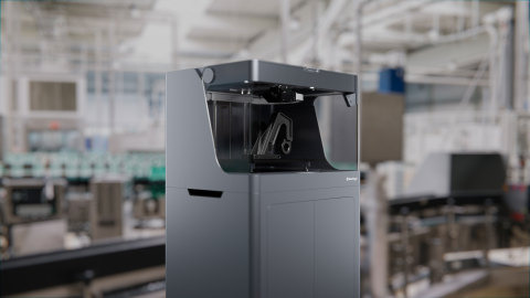"""""""For 30 years, 3D printing customers have been forced to accept trade-offs between strength, time, and affordability -- lacking the opportunity to benefit from all three. With the complete Industrial Series and new Metal X printer, these trade-offs no longer exist,"""" said Greg Mark, Markforged's founder and CEO. """"Customers can now, with ease, print same-day parts that optimize strength and affordability for their specific needs."""" (Pictured: The Markforged X3)"""