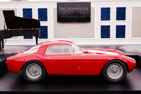 1954 Maserati A6GCS/53 Berlinetta by Pinin Farina was named winner of the prestigious The Peninsula Classics Best of the Best Award. Photo Credit: Adam Swords