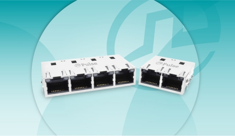 New 1x2 and 1x4 Offset 10GBase-T Ethernet Connector Module reduces the overall height of products by allowing a portion of the part to be sitting below the PCB. (Photo: Business Wire)