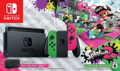 The bundle will be available starting Sept. 8 at a suggested retail price of $379.99 and offers fans in North America their first chance to get their hands on that Joy-Con color combination. (Graphic: Business Wire)