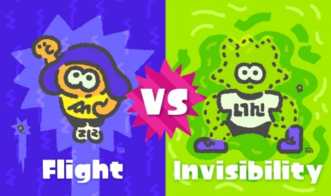 Nintendo also announced the topic of its next Splatfest competition, which will run Sept. 1-2. Participants will pick a side to fight alongside in online Turf War battles by choosing which superpower they would prefer: flight or invisibility. (Graphic: Business Wire)